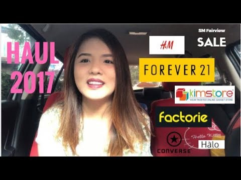 HAUL 2017! (FOREVER 21, H&M, FACTORIE) SM Fairview 70% OFF Sale!!! (Philippines) | AXL A