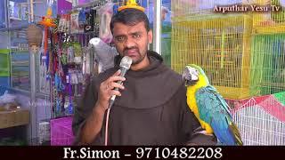 Fr.Simon Fish & Bird Exhibition   Francis of Assisi Feast   St Sebastian Church, Madhavaram  