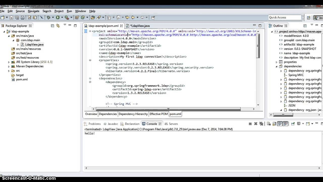 Spring Java LDAP from scratch - 1