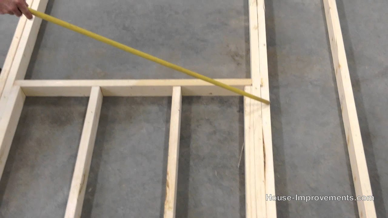 How To Frame a Window and Door Opening - YouTube