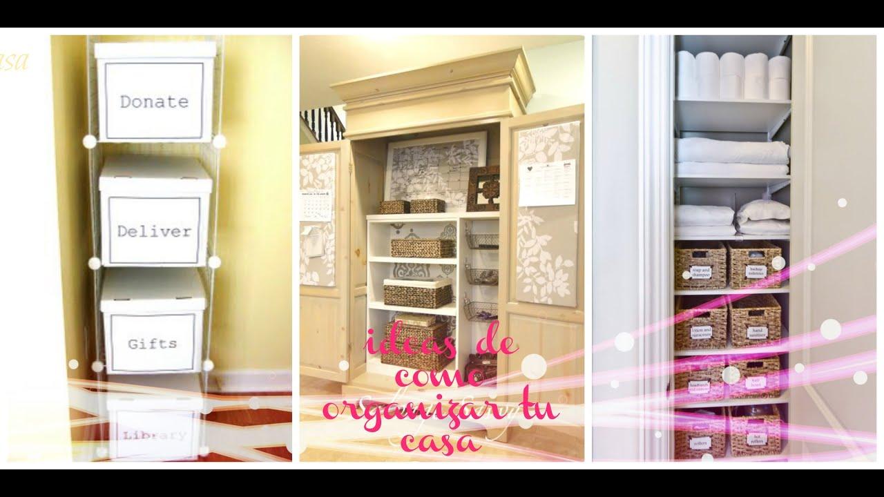 Consejos de como organizar tu casa como tener solo lo necesario silvia en tu vida youtube - Ideas para organizar tu casa ...