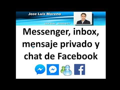 Explicación:  Messenger, Inbox, Mensaje Privado Y Chat De Facebook