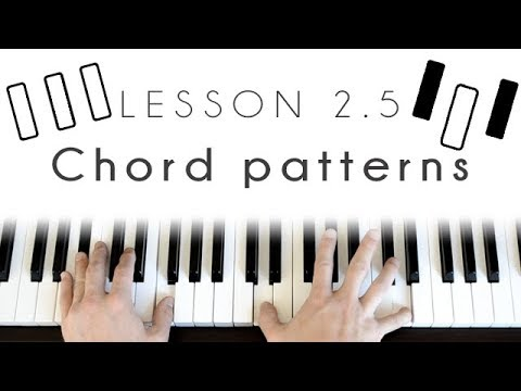 Easy Chord Patterns Piano Lesson Youtube