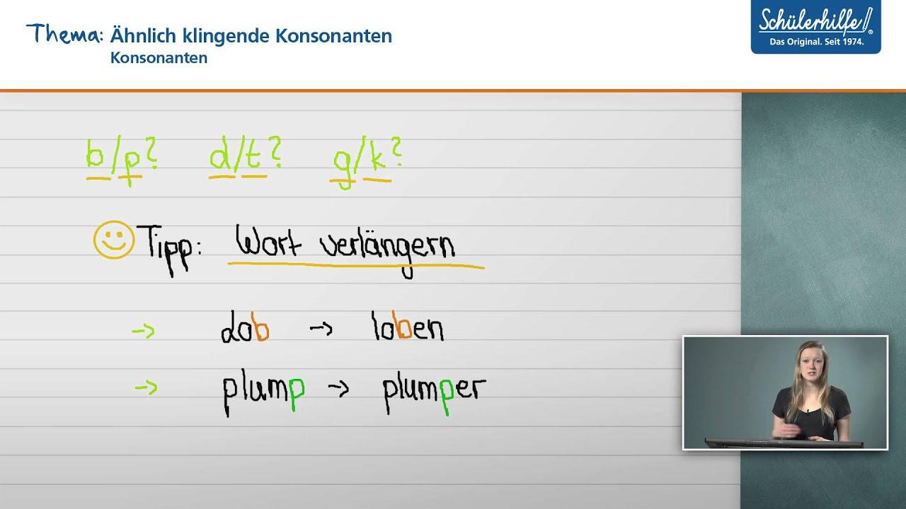 Konsonant Mitlaut Bedeutung Und Beispiele Im Deutschen 15
