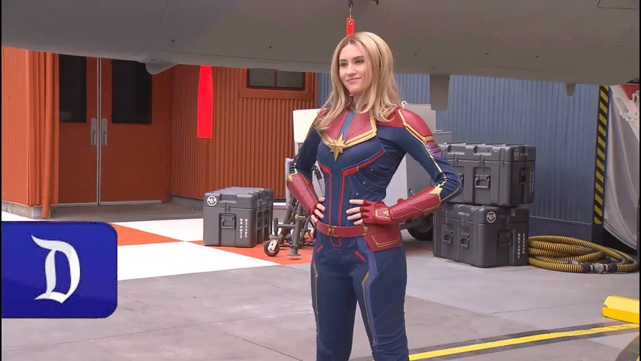 Encounter Captain Marvel In Disney California Adventure Park Youtube It has beautiful rich colors and a comfortable fit. encounter captain marvel in disney california adventure park