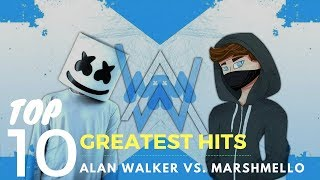 Best of Alan Walker vs. Marshmello | Top 10 Greatest Hits 2017-2018 (Updated) 🔥