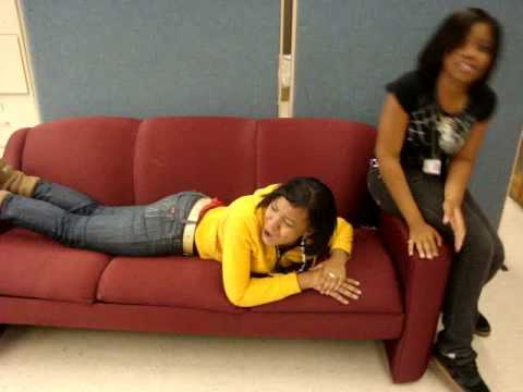 Girl hump couch