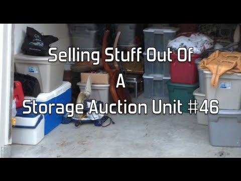 Selling Stuff Out Of A  Storage Auction Unit- Making Money With Storage Auctions- Glendon007