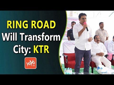 Ring Road Will Transform City: KTR | Telangana | Hyderabad |  YOYO Times