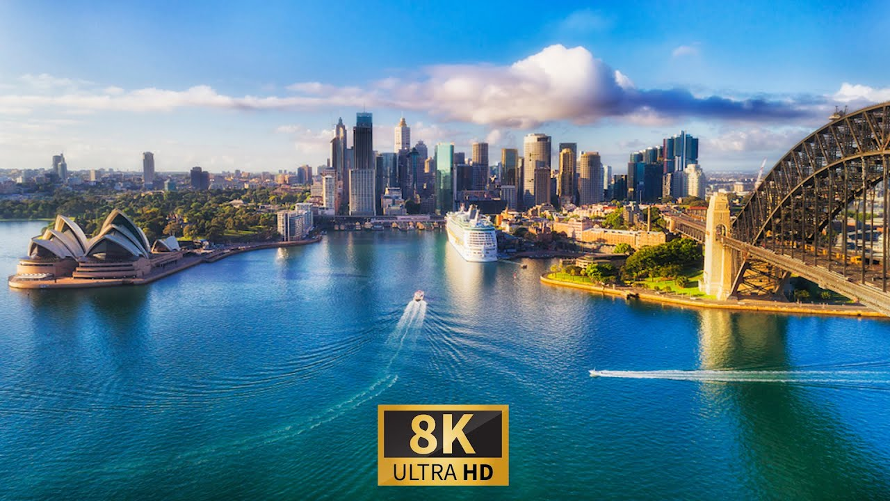 AUSTRALIA in 8K ULTRA HD HDR - Relaxation Film with Soothing Piano Music.