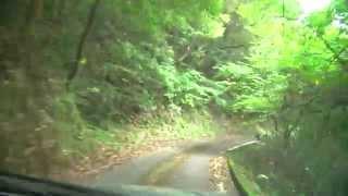 鹿児島県道544号線未改良狭路部から吾平山上陵へ