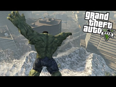The Hulk vs Tsunami GTA V