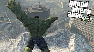 The Hulk vs Tsunami GTA V