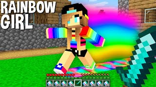 ONLY 1% PLAYERS can MEET rarest RAINBOW GIRL in Minecraft ! SECRET PERSON !
