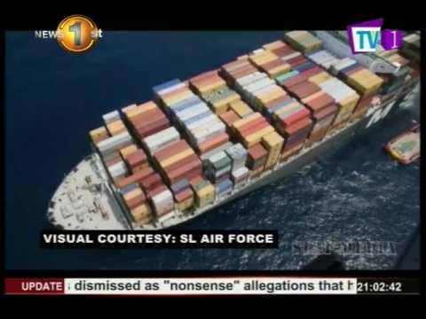 News1st: Indo - Sri Lanka Navy vessels combat fire aboard MSC Daniela