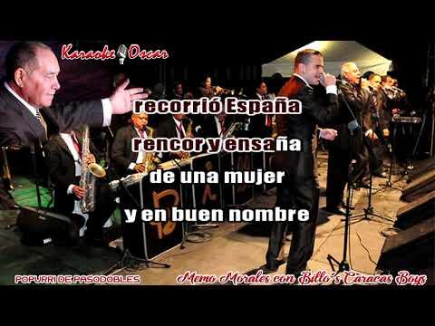 Popurri De Pasodobles Memo Morales Con La Billo's Caracas Boys Karaoke