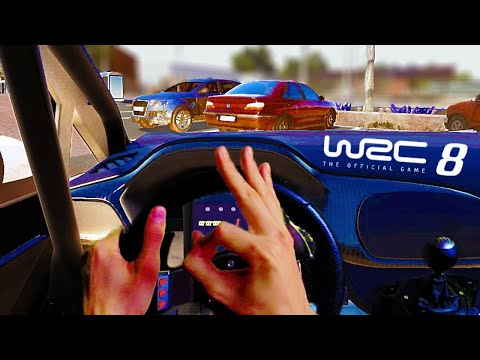 WRC 8 Steering Wheel PC Gameplay - Training with Logitech G27