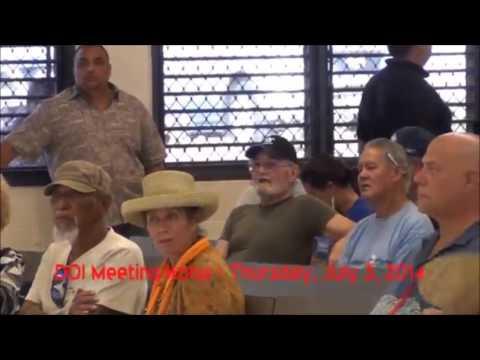 DOI Meetings on Native Hawaiian Recognition   Kona, HI   July 3, 2014