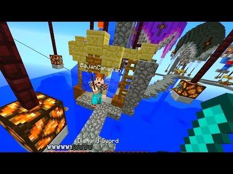 Minecraft HOT AIR BALLOON PVP #1 with Vikkstar, BajanCanadian, Woofless & Ashley