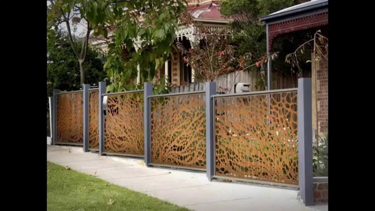Home fence design ideas - YouTube