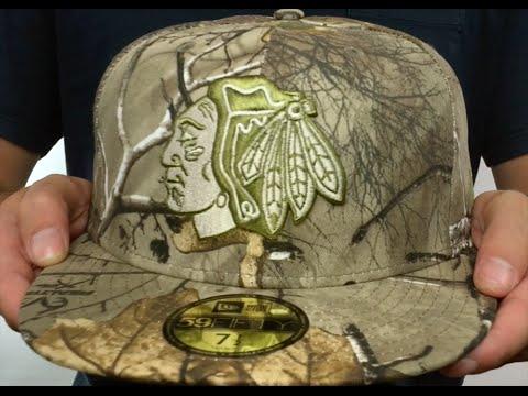 3265ed9df4c ... usa blackhawks nhl team basic realtree camo fitted hat by new era 0628b  2b442