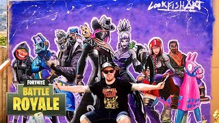 Drawing Fortnite X Season All Skins All characters Epic & legendary Draw