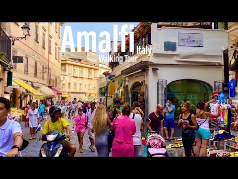 Amalfi, Italy - July 2021 - Amalfi Coast - 4K-HDR Walking Tour (▶76min) - Tourister Tours