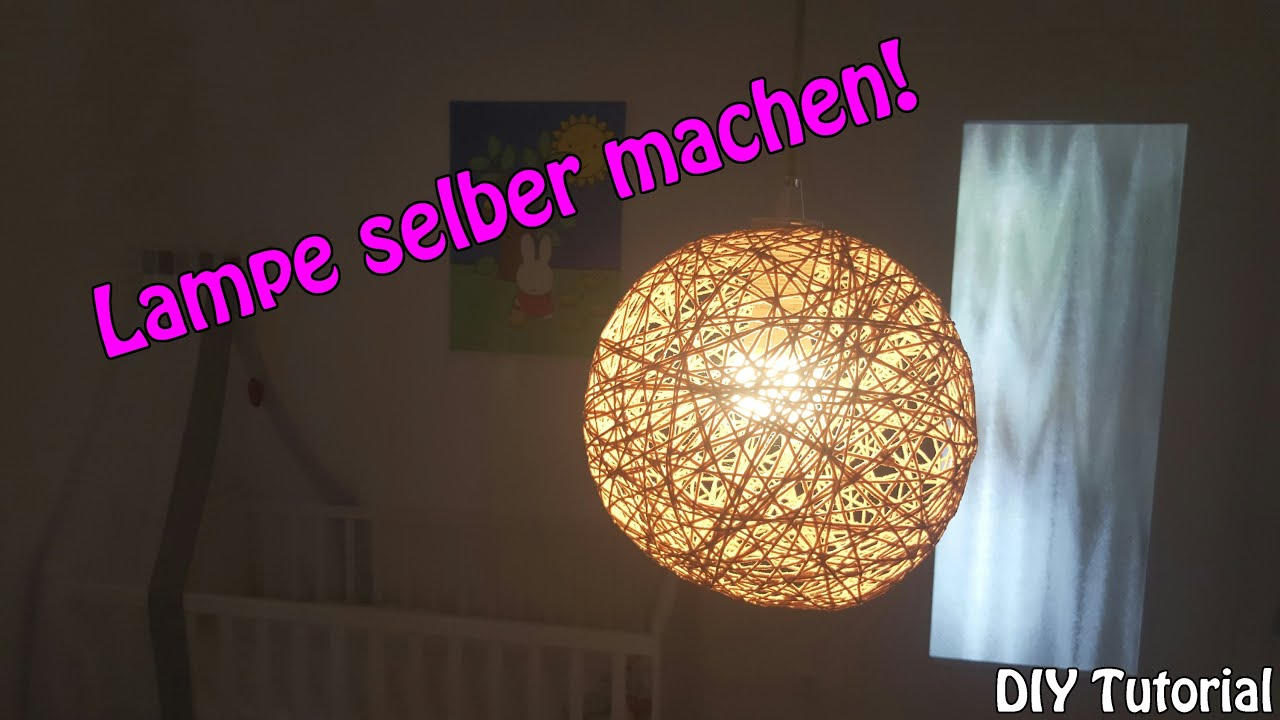 lampe lampenschirm selber machen basteln f r anf nger diy tutorial youtube. Black Bedroom Furniture Sets. Home Design Ideas