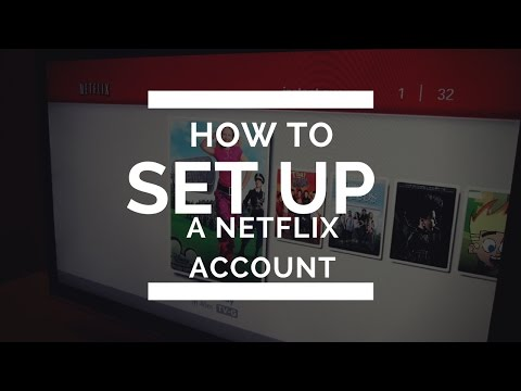 how to setup a netflix account