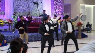 Amazing Bhangra Performance by Brothers with German Friends at Sisters Wedding