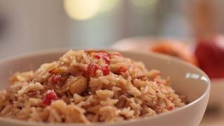 Blood Orange Almond Rice Pilaf Recipe || Kin Eats