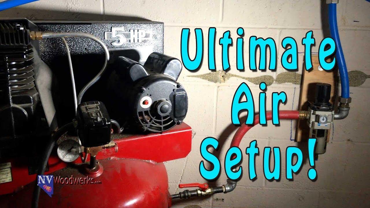 medium resolution of my air compressor and air line setup using rapidair maxline pipe system