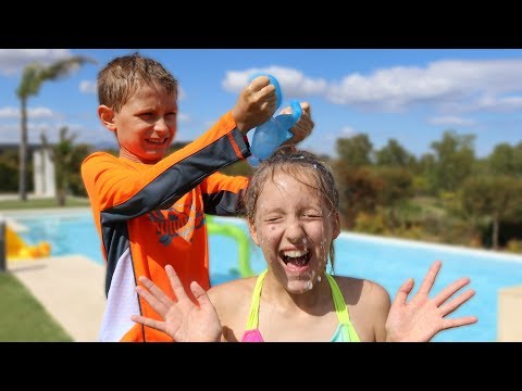 WATER BALLOON CHALLENGE!!! BUNCH O BALLOONS