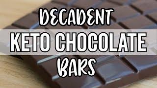 Keto Chocolate Bar Recipe - 2g Carbs per Bar!