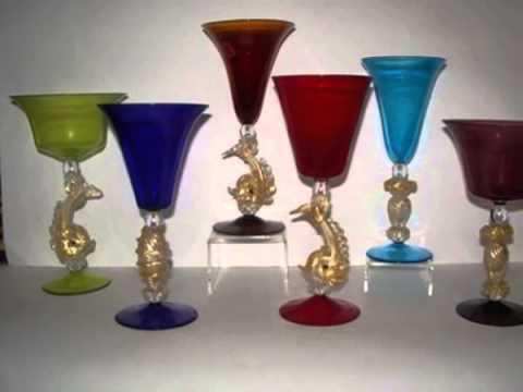 Bicchieri vetro di murano youtube - Decorare bicchieri di vetro ...
