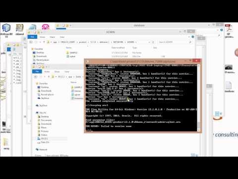 Resolving tns 03505 error