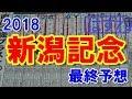 新潟記念 2018 最終予想 【競馬予想】
