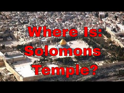 Where was Solomons Temple? - Not the Temple Mount -Mount Zion, City of David