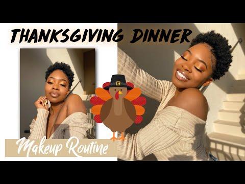 Thanksgiving Dinner Makeup Routine