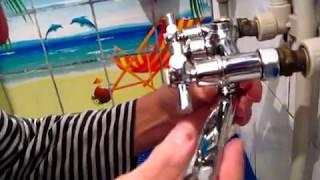 Как заменить смеситель горячей - холодной воды в ванной комнате