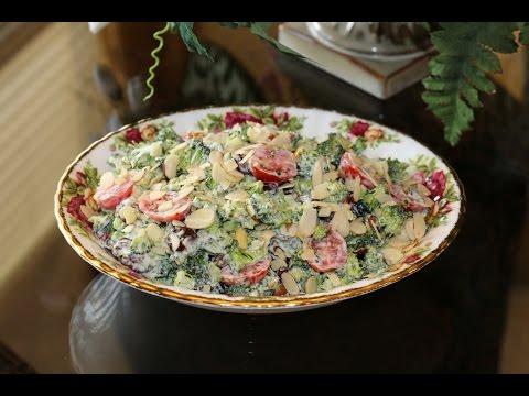 Салат из брокколи и помидор