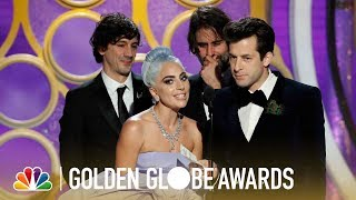 """The writers of """"shallow"""" accept award for best original song - motion picture at 76th annual golden globe awards.» subscribe more: http://bit.ly/..."""