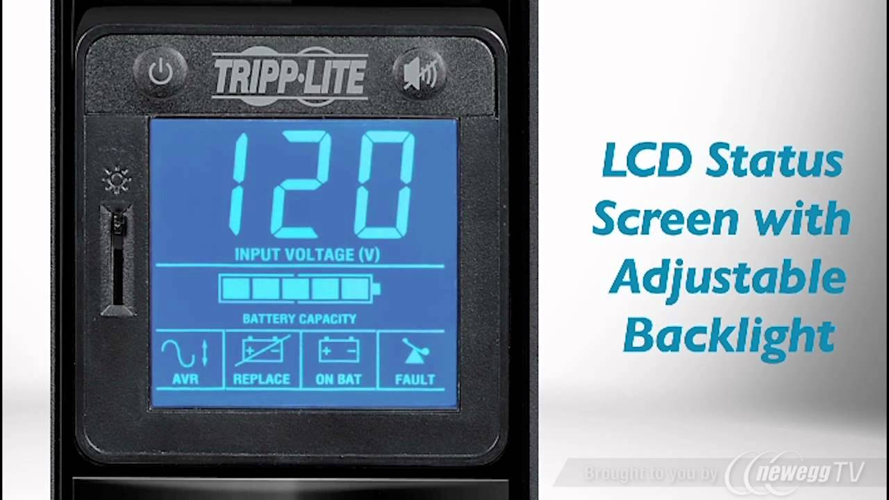 475W Tower Tripp Lite 900VA UPS Battery Back Up OMNI900LCD AVR LCD Display USB