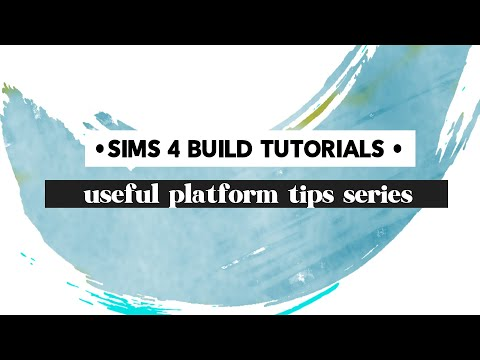 Sims 4 platform build tips: Use shelves without walls