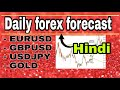 ( 13 july ) daily forex forecast  EURUSD / GBPUSD / USDJPY / GOLD  forex trading  Hindi
