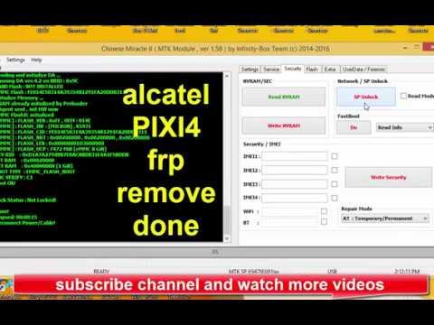 Alcatel PIXI4   5045d   Sim Lock   Network Unlock   With Cm2 Dongle