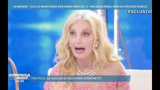 Marchesa Daniela Del Secco D'Aragona/ un'amica si finge sua fan, ma lei si difende…