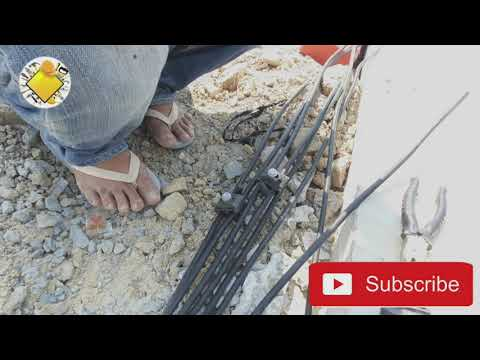 Technical connect electric wire line | construction worker |