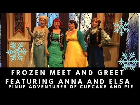 Frozen meet and greet at Disney's California Adventure - featuring Elsa!