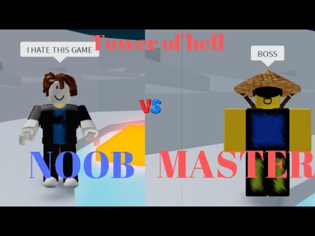 jim dah noob roblox Noob Vs Master L Tower Of Hell L Roblox Youtube